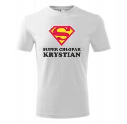 "Koszulka męska z nadrukiem ""SUPER CHŁOPAK"""