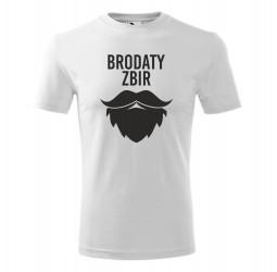 """Koszulka męska z nadrukiem """"BRODATY ZBIR"""""""