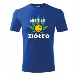 """Koszulka męska z nadrukiem """"NIEZŁE ZIÓŁKO"""""""