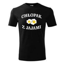 """Koszulka męska z nadrukiem """"CHŁOPAK Z JAJAMI"""""""