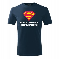 """Koszulka dziecięca z nadrukiem """"SUPER CHŁOPAK"""""""