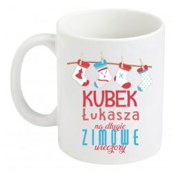 """Kubek zwykły z nadrukiem """"NA DŁUGIE ZIMOWE WIECZORY"""""""