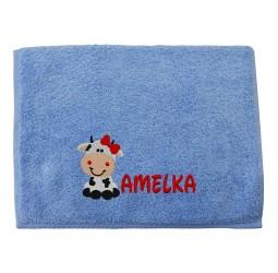 """Ręcznik duży z haftem """"KRÓWKA"""""""