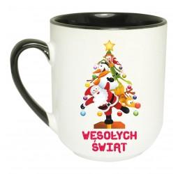 """Kubek kolorowy coffee z nadrukiem """"WESOŁA CHOINKA"""""""