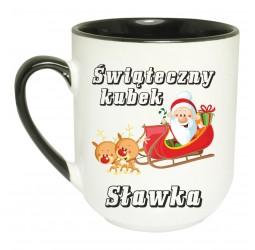 """Kubek kolorowy coffee z nadrukiem """"MIKOŁAJ NA SANIACH"""""""
