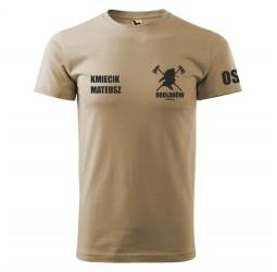 Koszulka piaskowa z nadrukami dla straży