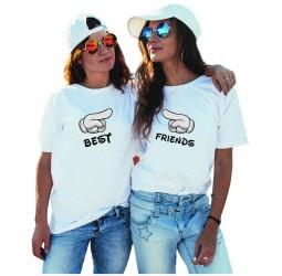 Koszulki damskie z nadrukiem dla przyjaciółek