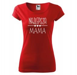 Koszulka damska z nadrukiem NAJLEPSZA MAMA