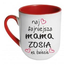 Kubek czerwony coffee NAJFAJNIEJSZA MAMA NA ŚWIECIE