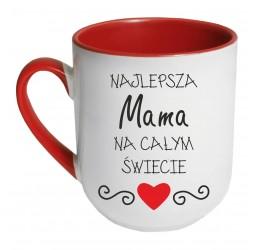 Kubek czerwony coffee NAJLEPSZA MAMA NA CAŁYM ŚWIECIE