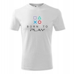 """Koszulka dziecięca z nadrukiem """"BORN TO PLAY"""""""