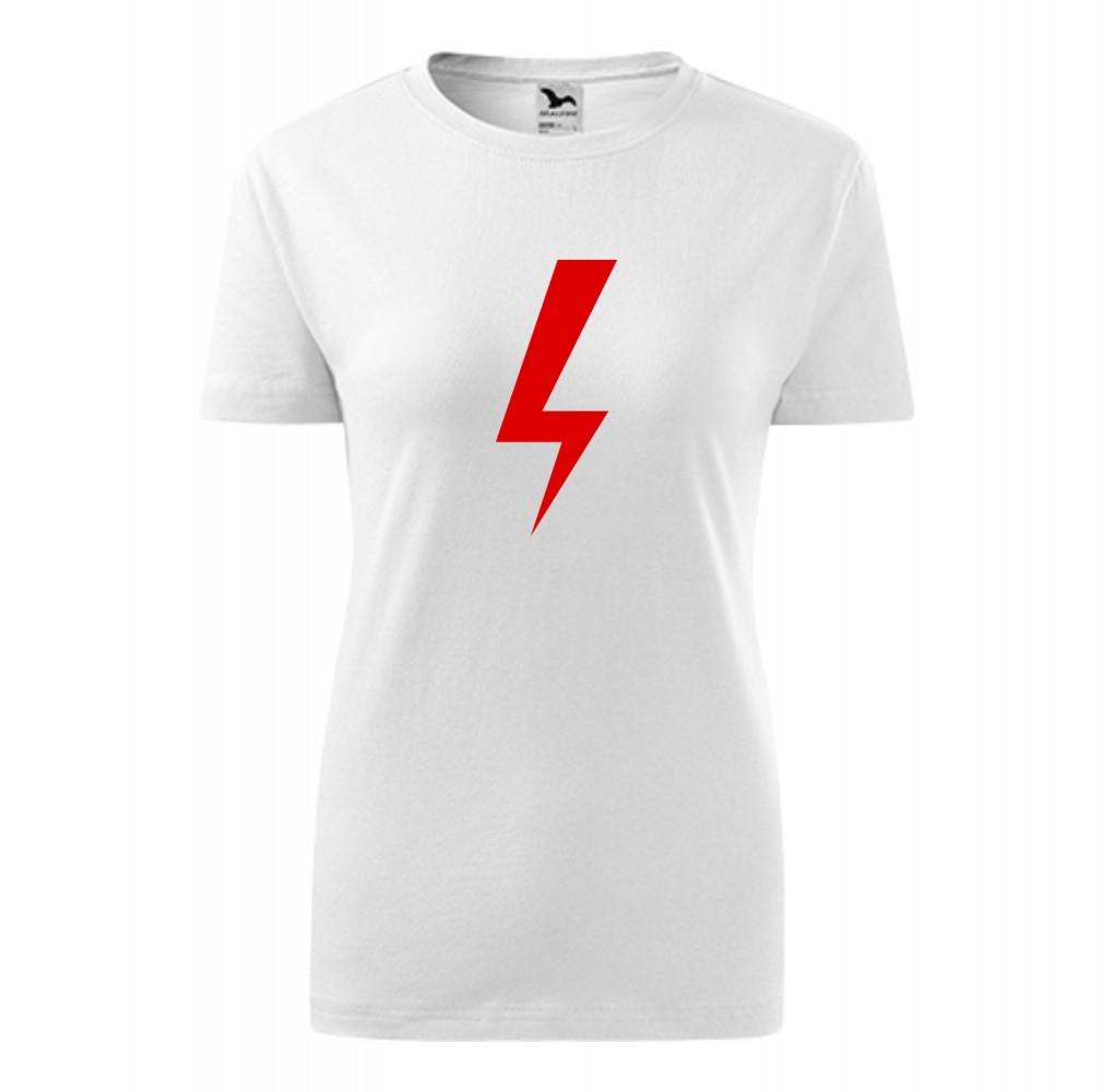 Koszulka damska z nadrukiem BŁYSKAWICA