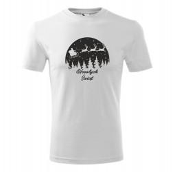 Koszulka męska z nadrukiem MIKOŁAJ W SANIACH