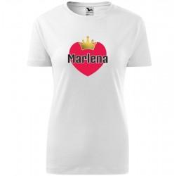 Koszulka damska z nadrukiem SERCE Z KORONĄ