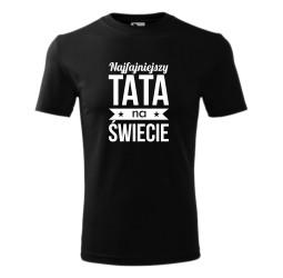 Koszulka męska NAJFAJNIEJSZY TATA NA ŚWIECIE