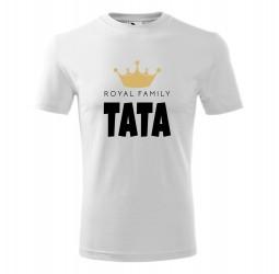 "Koszulka męska z nadrukiem: ""ROYAL FAMILY TATA"""