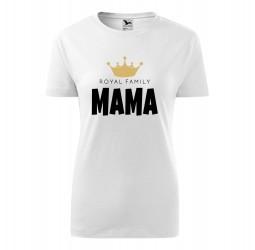 "Koszulka damska z nadrukiem: ""ROYAL FAMILY MAMA"""