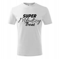 """Koszulka dziecięca z nadrukiem """"SUPER MŁODSZY BRAT"""""""