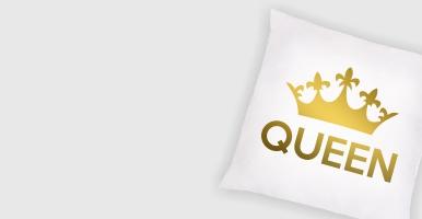 "Poduszka biała ""Queen"""