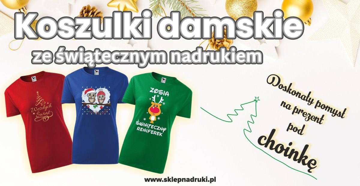 Koszulki damskie na święta